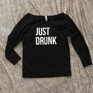 """Just Drunk"" statement tee"